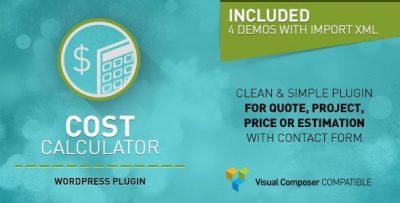 Cost Calculator — Калькулятор стоимости — плагин WP