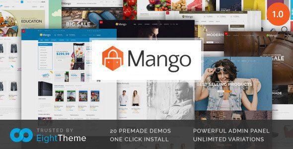 Манго – Быстро реагирующая Тема Woocommerce
