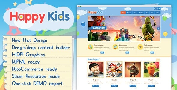 Happy Kids - Детская Тема Wordpress