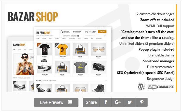 Bazar Shop — Многоцелевая Тема eCommerce