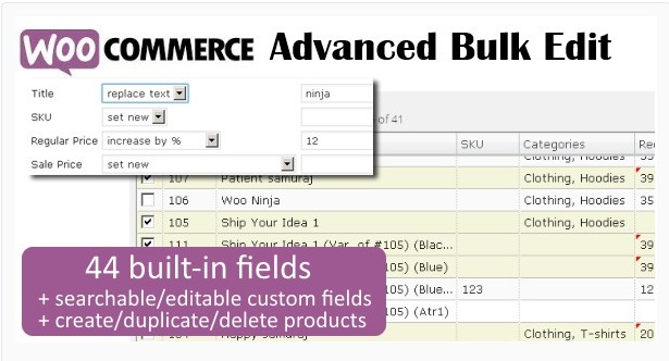 Расширенное массовое редактирование продуктов WooCommerce - Woo Advanced Bulk Edit