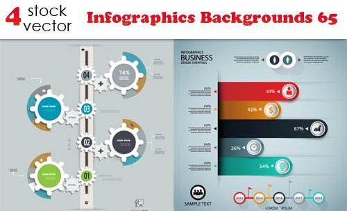 Vectors – Infographics Backgrounds 65