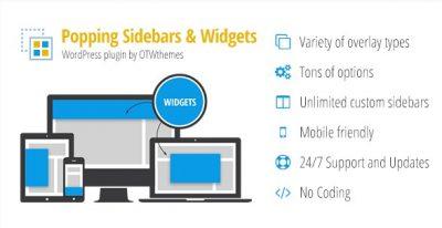 Popping Sidebars and Widgets for WordPress – Всплывающие Сайдбары и виджеты для wordpress