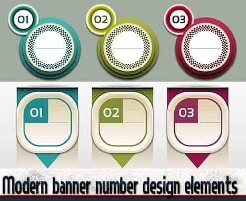Современные элементы дизайна баннеров чисел