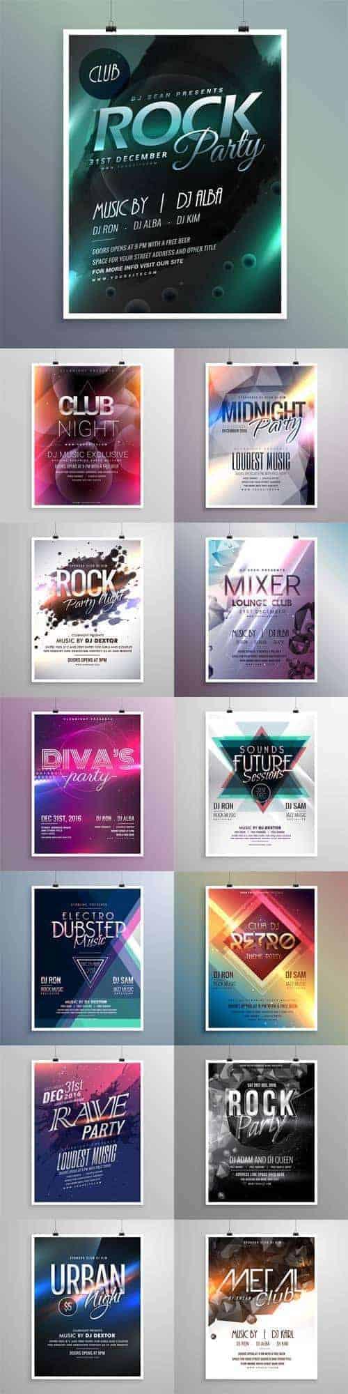 Вектор – Клубная Музыка, Плакаты, Листовки
