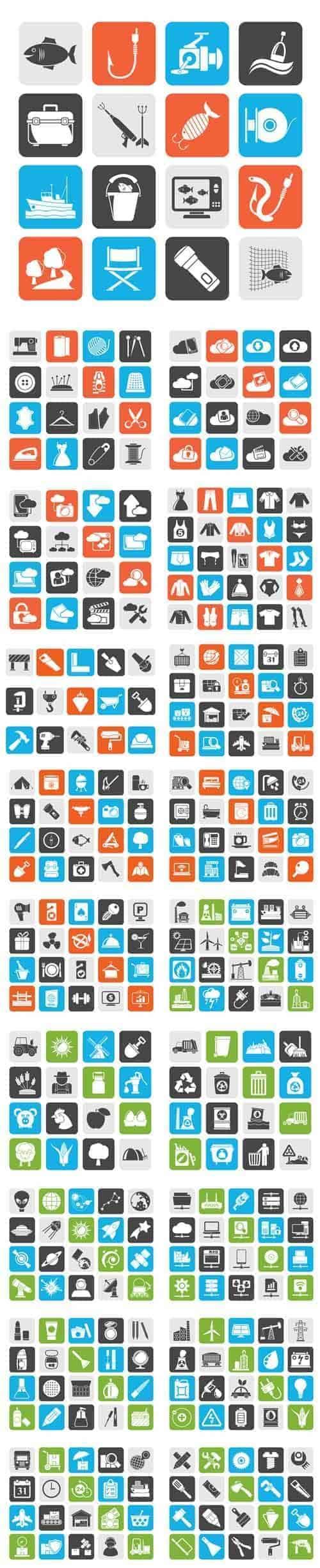 Вектор – 20 различных иконок Mix 1