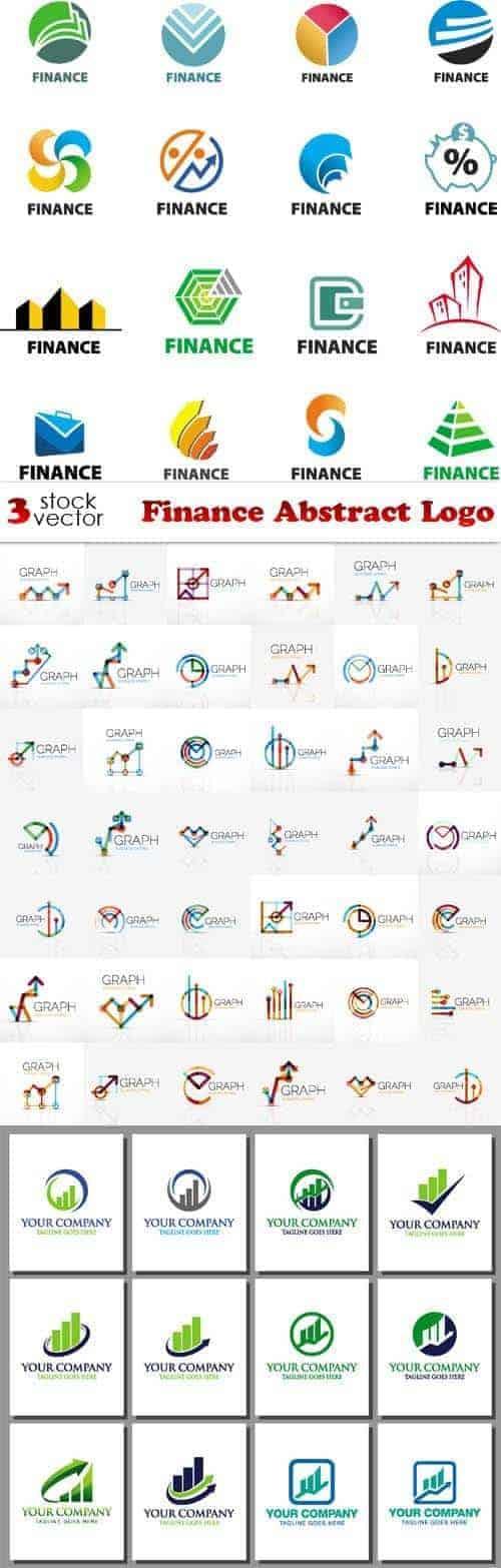 Вектор – Финансы абстрактный логотип