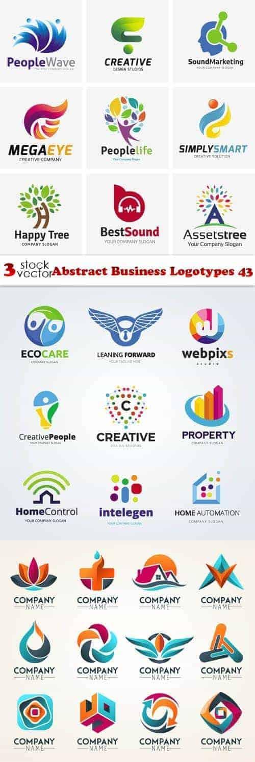Вектор – Абстрактные Бизнес Логотипы 43