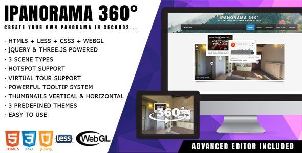 iPanorama 360 ° – jQuery Виртуальный тур с Разработчиком