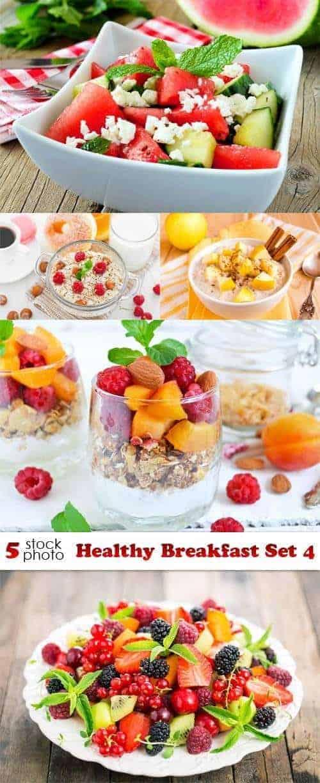 Фото — здоровый завтрак набор 4