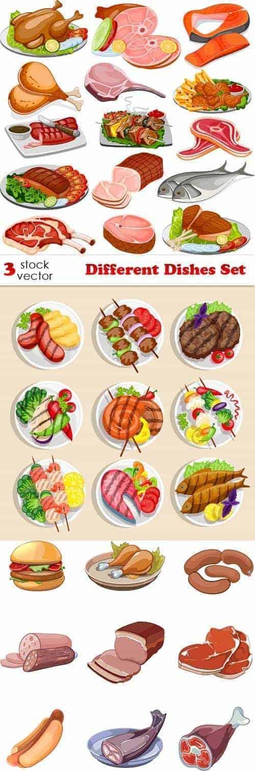 Вектор - набор различных блюд