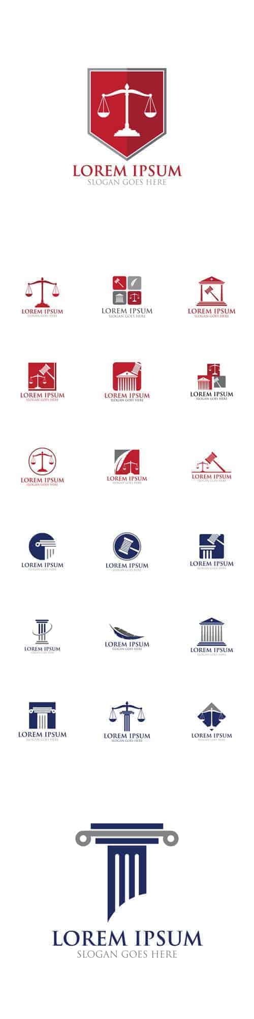 Вектор – Дизайн иконок права, правовой логотип