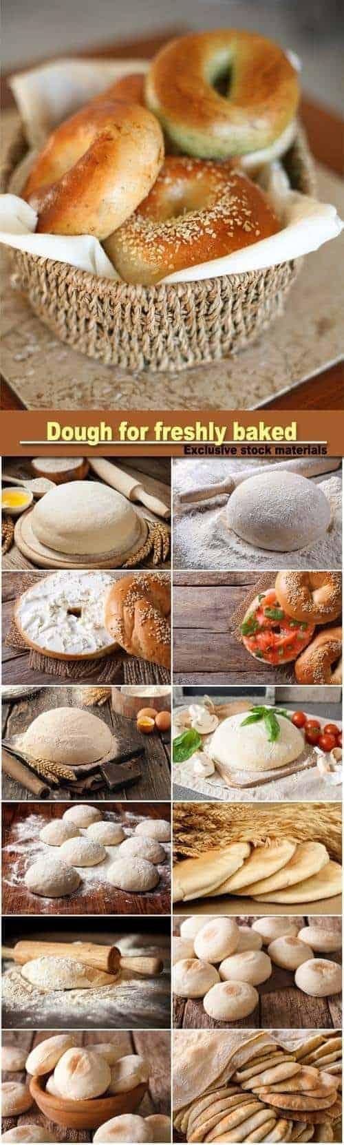 Сток-фото — Тесто для свежей выпечки