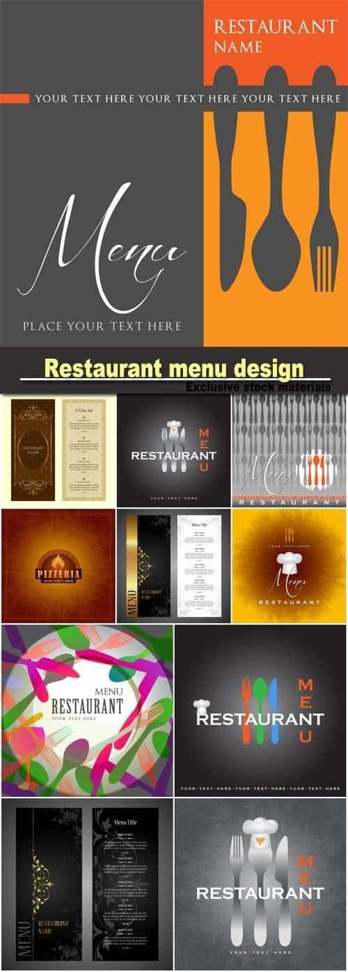 Меню Ресторана – дизайн шаблона