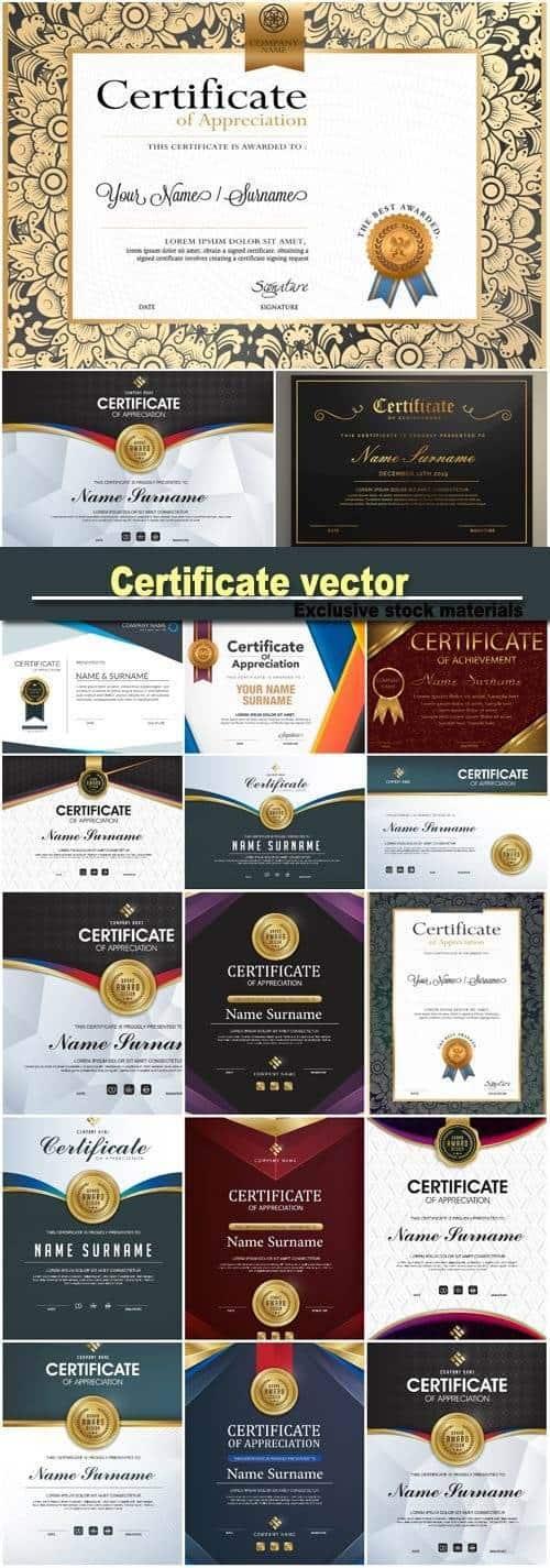 Вектор – Шаблоны сертификатов класса люкс