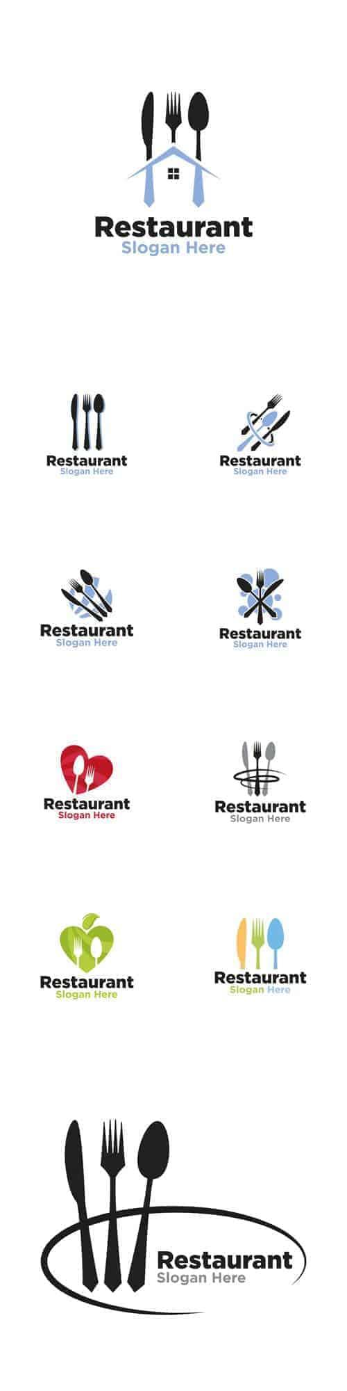 Векторный логотип Ресторана, Творческий дизайн