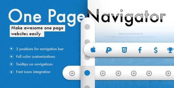 Навигатор на одну страницу для визуального Композитора