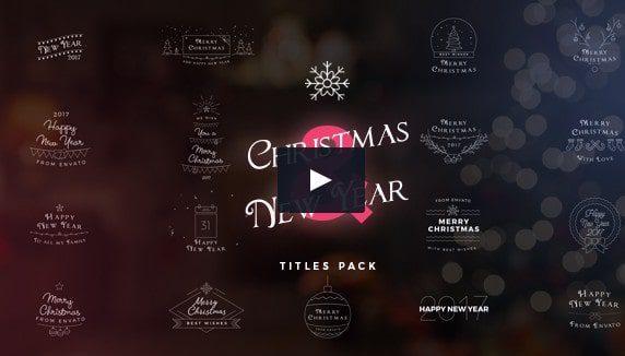 17 вариантов Видео заголовков на Рождество & Новый год