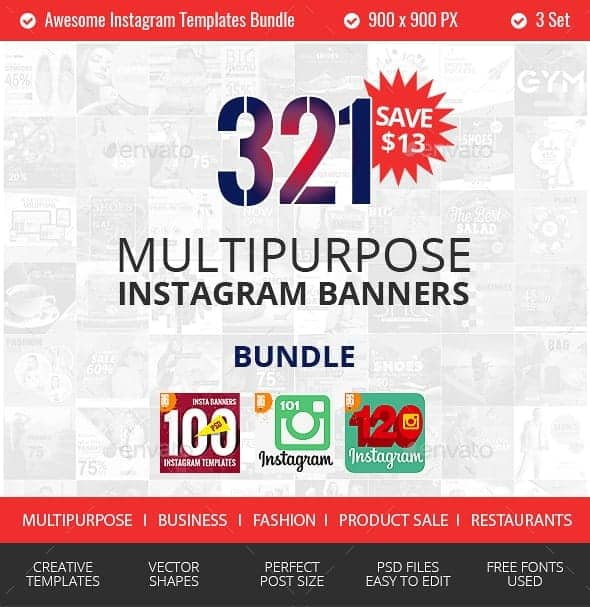 GraphicRiver – 321 Instagram Промо-Пакет