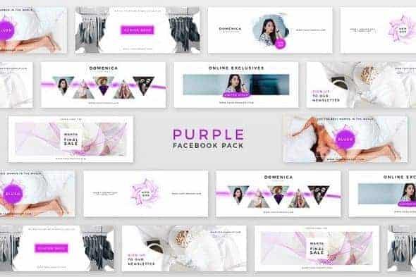 Фиолетовый Пакет для  Facebook