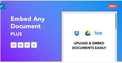 Embed Any Document Plus — Плагин для WordPress