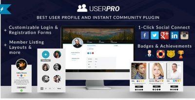 UserPro — Профили пользователей + адд-он  Вход в систему с Вконтакте