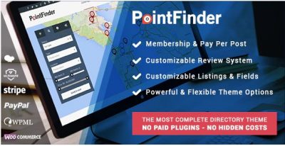 PointFinder   WordPress Тема каталога и объявлений