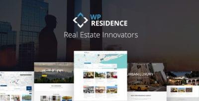 WP Residence — WordPress тема Недвижимости