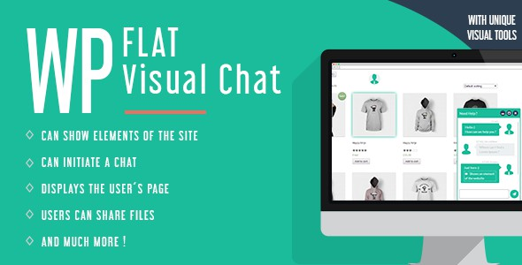 Визуальный Чат – плагин WP Flat Visual Chat