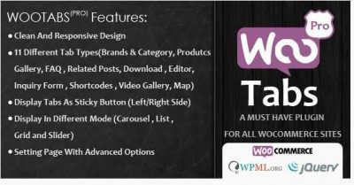 Woocommerce Tabs Pro – Дополнительные Вкладки на странице товара