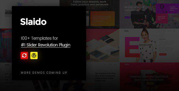 Slider Revolution v 6.5.5 - Адаптивный Слайдер для Wordpress + Slaido - Template Pack (пакет шаблонов)