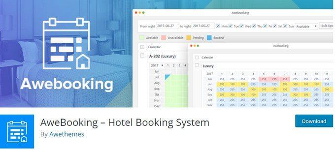 AweBooking + Premium addons -  Онлайн бронирование для WordPress
