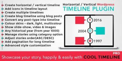Сool Timeline Pro – WordPress Плагин Хронологий