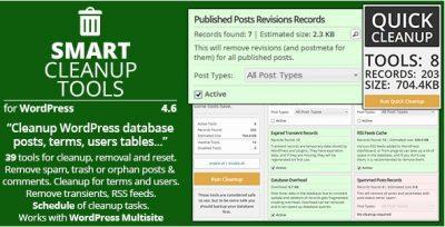 Smart Cleanup Tools – Умные Инструменты Очистки, плагин WP