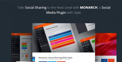 Monarch — Social Sharing Plugin — Плагин Поделиться в Соц Сетях