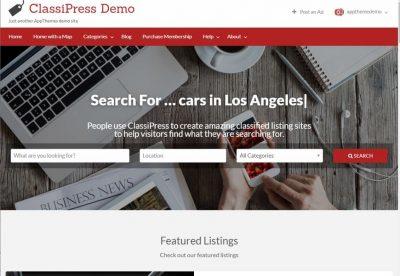 ClassiPress – Тема для Доски Объявлений