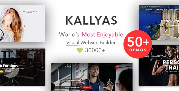 KALLYAS - Творческая многоцелевая WordPress  тема для Creative eCommerce