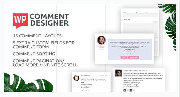 WP Comment Designer – Настройка и дизайн комментариев к WordPress
