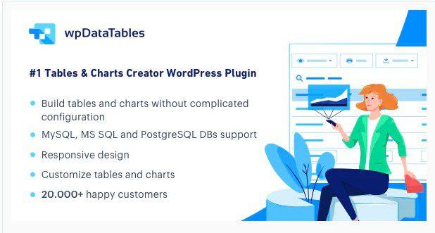 wpDataTables - Менеджер таблиц и диаграмм для WordPress