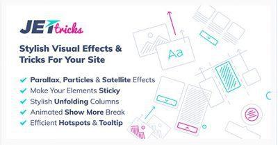 JetTricks — Визуальные эффекты Addon для Elementor