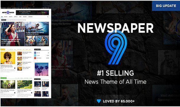 Newspaper  – Адаптивная тема Новостей/Журнала WordPress – nulled