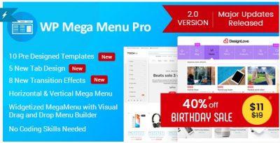 WP Mega Menu Pro – настраиваемое меню