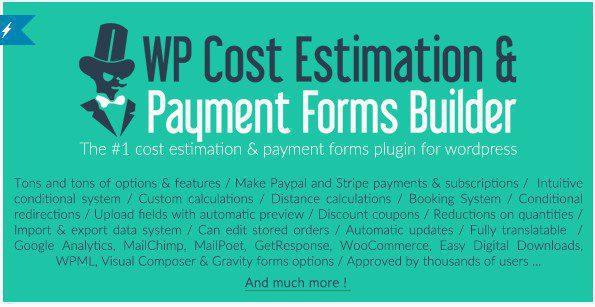 WP Cost Estimation & Payment Forms Builder - WP Оценочный & Платежный Конструктор форм