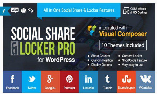Social Share & Locker Pro - Поделиться и соц-замок