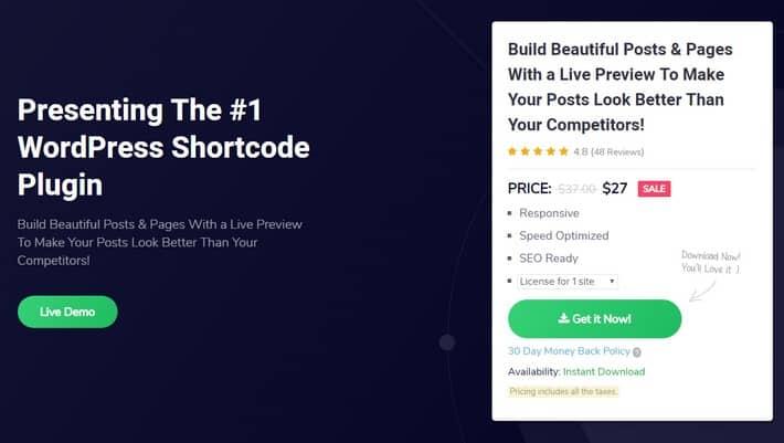 WP Shortcode Pro by MyThemeShop - Плагин богатый шорткодами