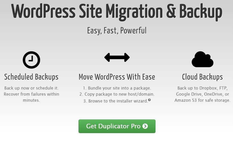 Duplicator Pro - Миграция сайта и резервное копирование WordPress