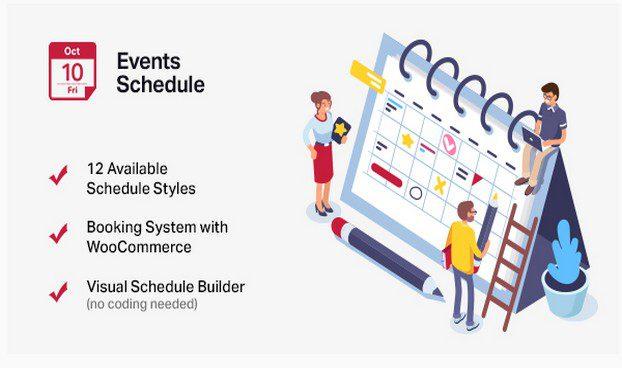 Events Schedule - Календарь событий WordPress
