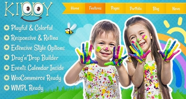 Kiddy - Тема WordPress для детей