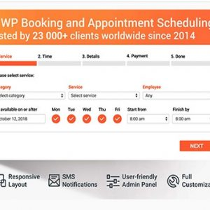 WordPress плагин Брони, Заказов и Планирования - Bookly