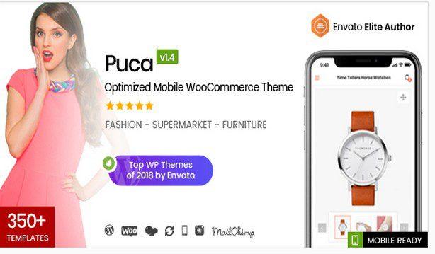 Puca - Оптимизированная мобильная тема WooCommerce